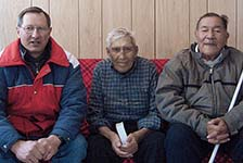 Gary Brown (l) in northern Ontario. The late Jack Barkman (r) initiated the Ponask Lake Family Camp.