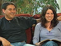 Richard and his wife, Melody, on Tribal Trails TV.